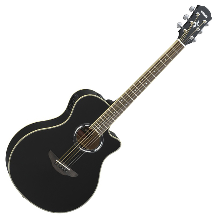 Yamaha APX500III Thinline Acoustic-Electric Guitar - Black - Bananas at Large