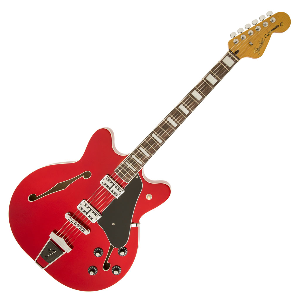 Fender Coronado Guitar with Rosewood Fingerboard - Candy Apple Red (Clearance All Sales Final) - Bananas At Large®