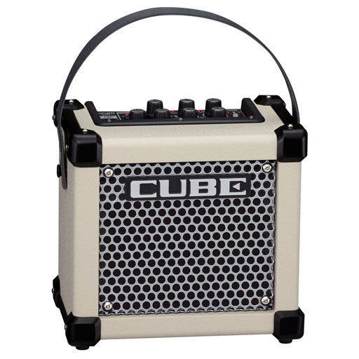 Roland Micro Cube GX Guitar Amplifier - White - Bananas at Large
