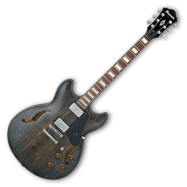 Ibanez ASV10A Artcore Vintage Series Semi-Hollow Body Electric Guitar - Transparent Black Low Gloss - Bananas At Large®
