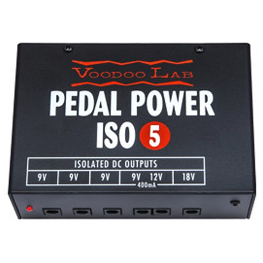 Voodoo Lab Pedal Power ISO-5 Isolated Power Suppy for Pro Stage and Studio Use