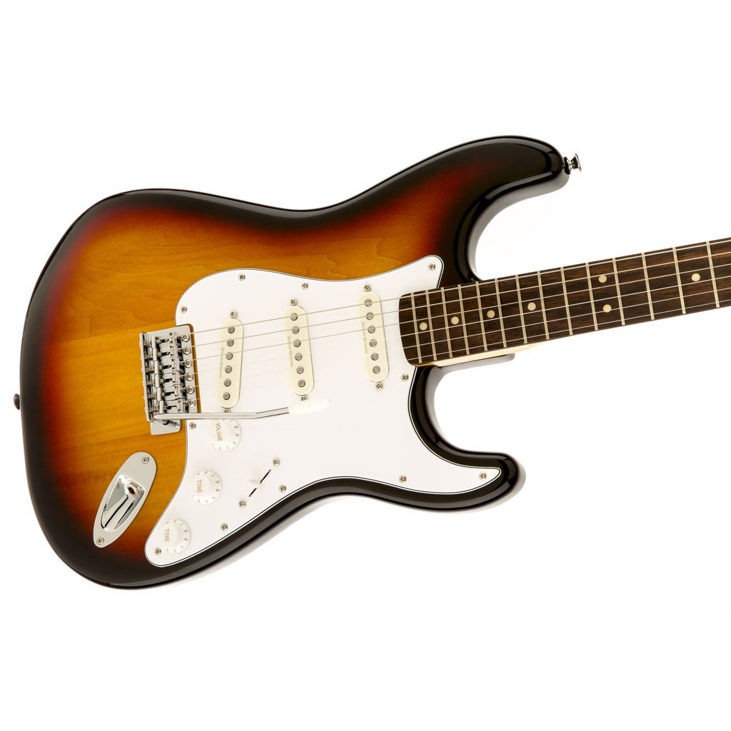 Squier Vintage Modified Stratocaster with Rosewood Fingerboard - 3 Tone Sunburst - Bananas at Large - 3