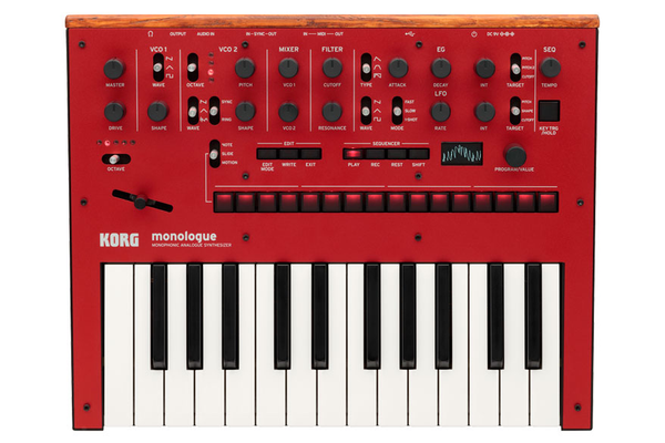 Korg Monologue Monophonic Analogue Synthesizer - Red - Bananas at Large - 1