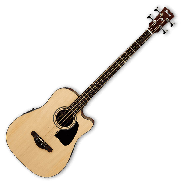 Ibanez AWB50CE Artwood Acoustic-Electric Bass - Natural - Bananas at Large