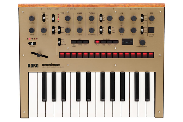 Korg Monologue Monophonic Analogue Synthesizer - Gold - Bananas at Large - 1