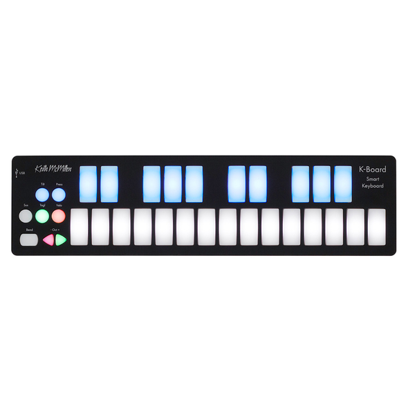 Keith McMillen K-716 K-Board 25-Key Portable USB Midi Controller - Bananas at Large - 1