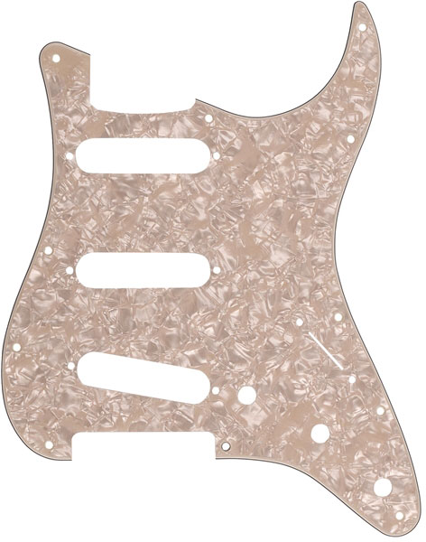 Fender 11-Hole Modern-Style Stratocaster S/S/S Pickguard - Aged White Moto - Bananas at Large