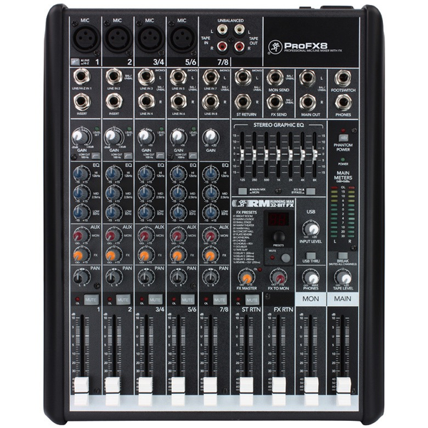 Mackie ProFX8 8-channel Professional Effects Mixer w/ USB - Bananas at Large