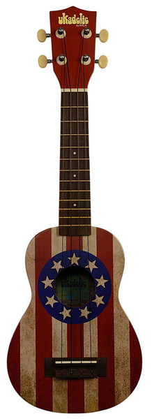 Kala Makala Ukadelic Vintage Stars and Stripes Soprano Ukulele - Bananas At Large®