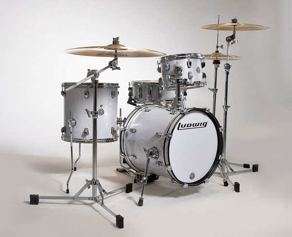 Ludwig LC179X028 Breakbeats by Questlove 4 Piece Drum Kit - White Sparkle - Bananas at Large - 1