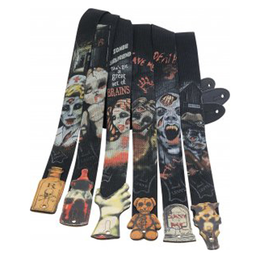 Levys MC8PZ Polyester Guitar Strap Zombie - Bananas at Large