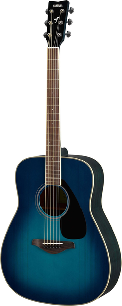 Yamaha FG820 Acoustic Guitar - Sunset Blue - Bananas at Large