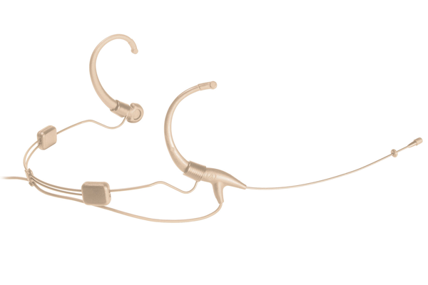 Audio Technica BP892-TH Subminiature Omnidirectional Condenser Headworn Microphone - Beige - Bananas at Large