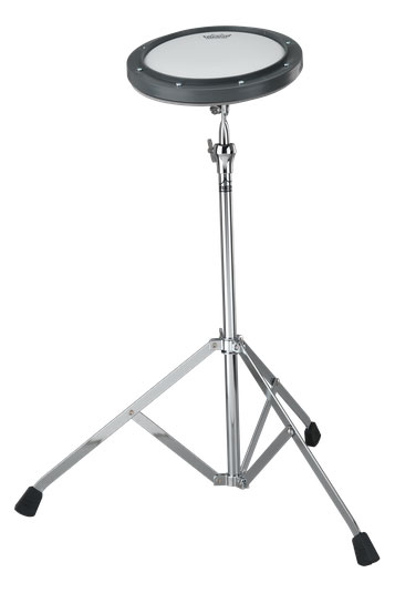 Remo 8 in. Gray Tunable Ambassador Coated Drumhead Practice Pad with Stand - Bananas at Large