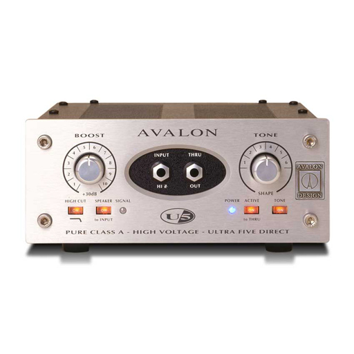 Avalon U5 Mono Instrument and DI Preamplifier - Bananas At Large®