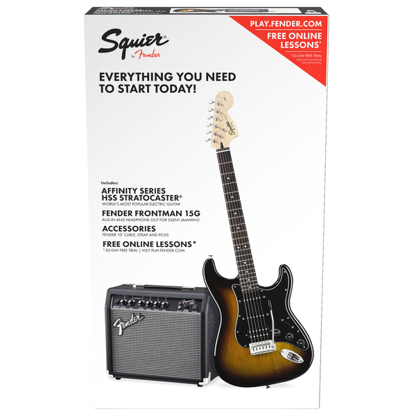Squier Affinity Series Stratocaster HSS Pacl - Brown Sunburst