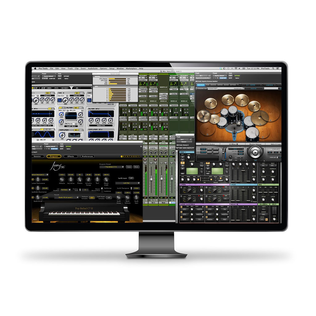 Avid Pro Tools Perpetual License with iLok2 and 1 Year Updates/Support [Download] - Bananas At Large®