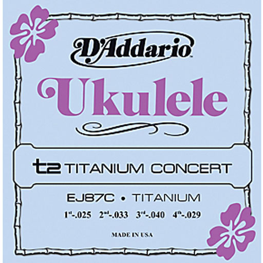 DAddario EJ87C Titanium Concert Ukulele Strings - Bananas At Large®