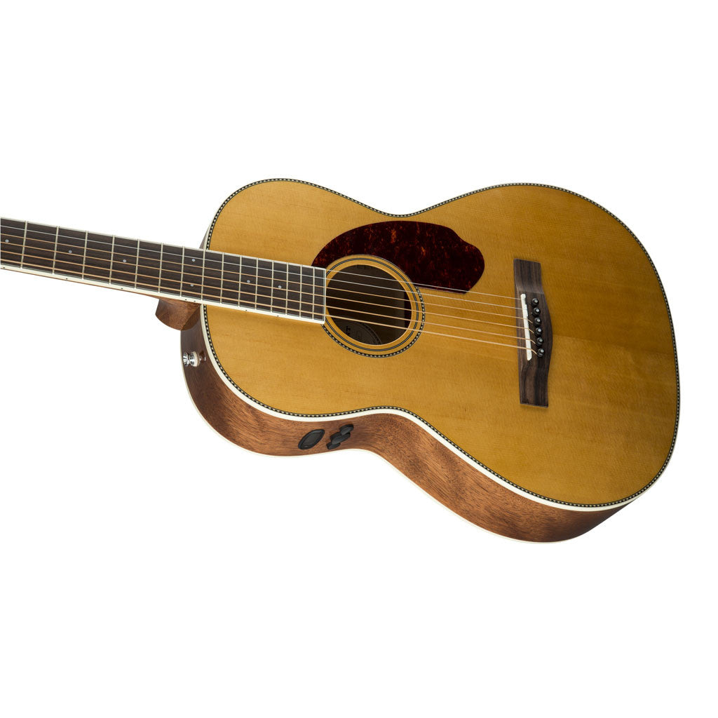 Fender Paramount PM-2 Standard Parlor Acoustic Electric Guitar - Natural - Bananas At Large®
