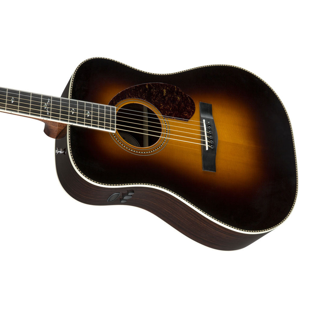 Fender Paramount PM-1 Deluxe Dreadnought Acoustic Guitar - Vintage Sunburst - Bananas At Large®