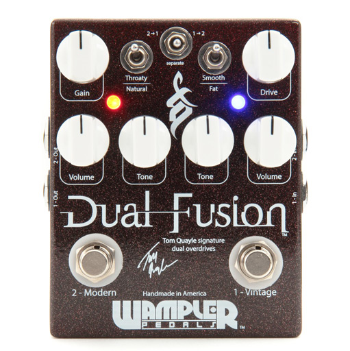 Wampler Dual Fusion Tom Quayle Signature Overdrive Guitar Pedal - Bananas at Large
