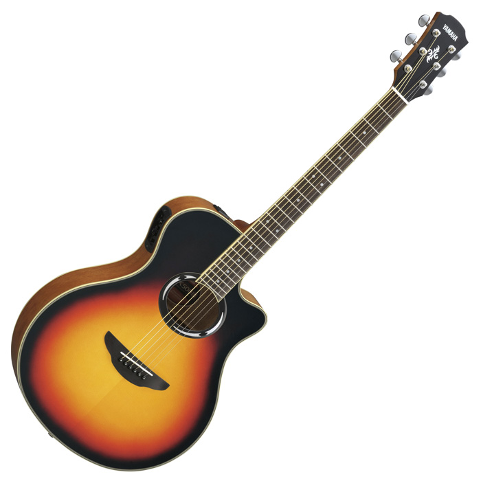 Yamaha APX500III Thinline Acoustic-Electric Guitar, Violin Burst - Bananas at Large