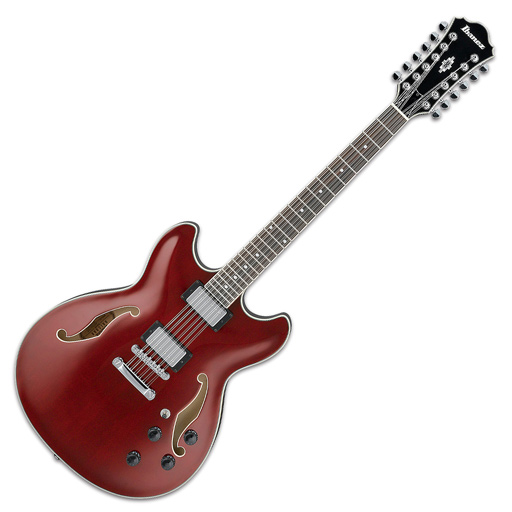 Ibanez AS7312 12-String Semi Hollowbody Electric Guitar, Transparent Cherry - Bananas at Large