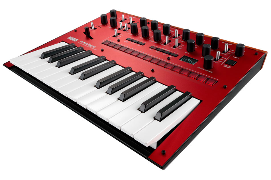 Korg Monologue Monophonic Analogue Synthesizer - Red - Bananas at Large - 2