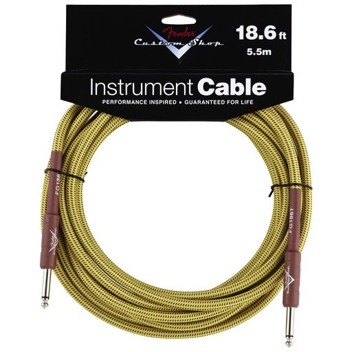 Fender Custom Shop Performance Series Cable, Straight to Straight 18.6ft, Tweed - Bananas at Large