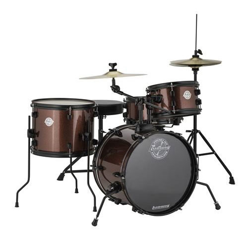 Ludwig LC178X025 4 Piece Questlove Pocket Kit Drum Set - Red Wine Sparkle - Bananas at Large
