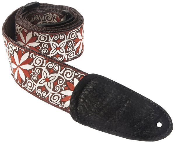 Henry Heller HJQ2-34 2 in. Gypsy woven Jacquard Guitar Strap - Bananas at Large