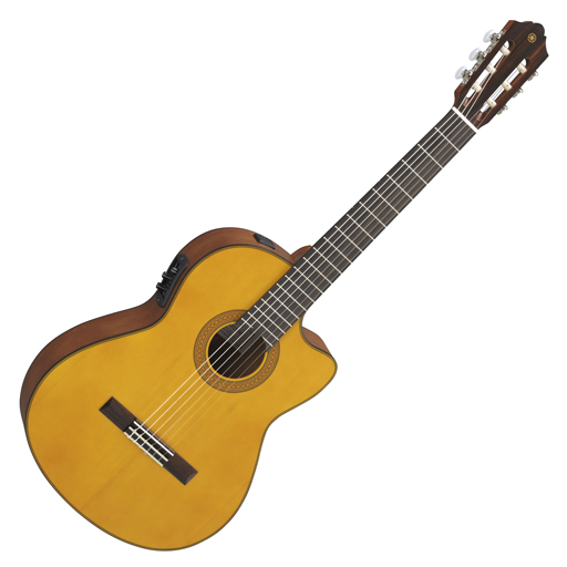 Yamaha CGX122MSC Acoustic-Electric Classical Guitar with Solid Spruce Top - Bananas at Large