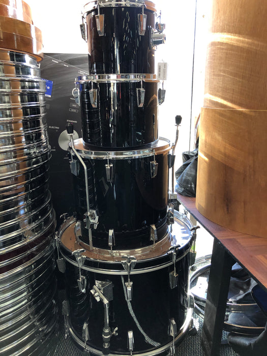 ROC Drums Black 4-Piece Fusion Kit