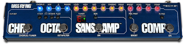 Bass Fly Rig - SansAmp, Comp, OCTAFILTER, Chorus and Boost in One Pedal - Bananas At Large®