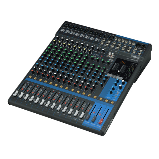 Yamaha MG16XU 16-Channel Stereo Mixer with USB Audio Interface Stage Kit - Bananas at Large