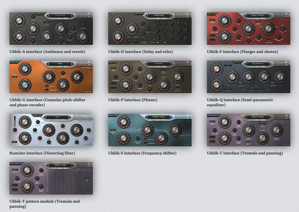 u-he Software Uhbik Fine Collection of Effect Plug-ins [Download]