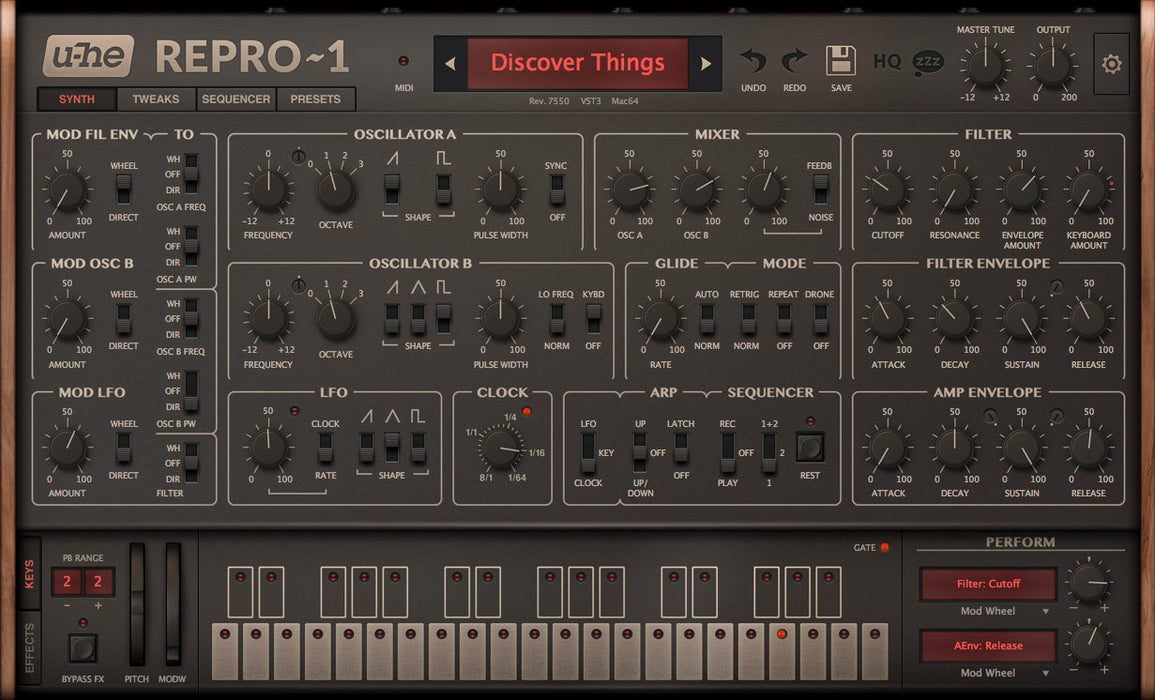 u-he Software Repro-1 Classic Monosynth with RAW Analog Sound [Download]