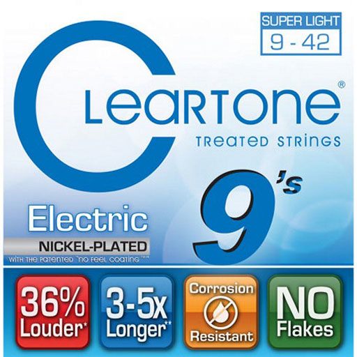 Cleartone Nickel-Plated Super Light Electric Guitar Strings 9-42 - Bananas At Large®