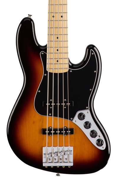 Fender Deluxe Active Jazz Bass V with Maple Fretboard - 3 Color Sunburst