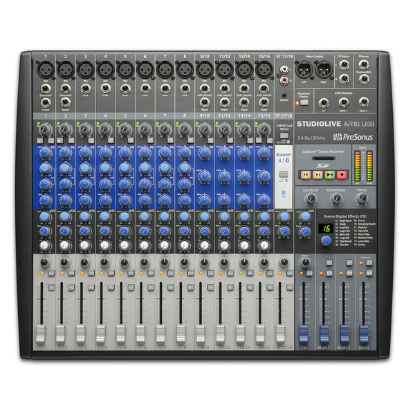 Presonus SLMAR16 Studiolive AR16 18-Channel Hybrid Digital/Analog Performance Mixer - Bananas at Large - 1
