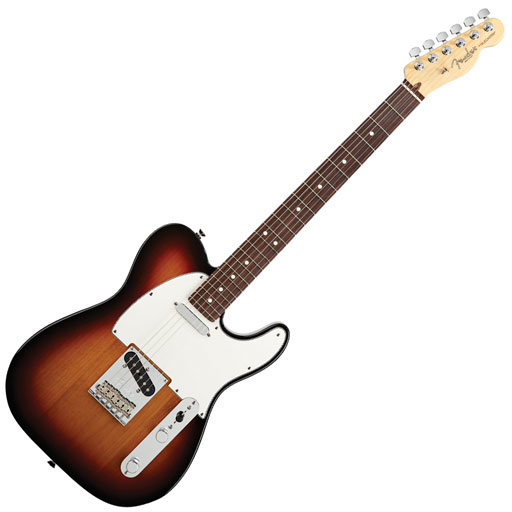 Fender American Standard Telecaster, Rosewood Fingerboard, 3-Color Sunburst - Bananas at Large