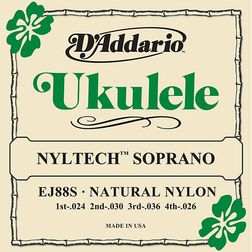 DAddario EJ88S Nyltech Soprano Ukulele Strings - Bananas At Large®