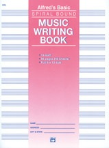 Alfred 12 Stave Music Writing Book, Spiral-Bound Manuscript - Bananas At Large®