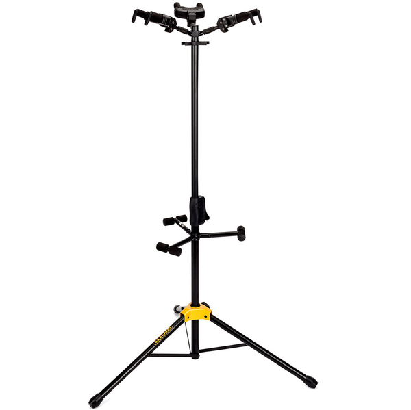 Hercules Auto Grip System Triple Guitar Stand with Foldable Backrest