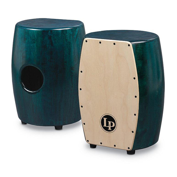Latin Percussion M1405GN Matador Stave Quinto Cajon Green with Natural Front - Bananas at Large
