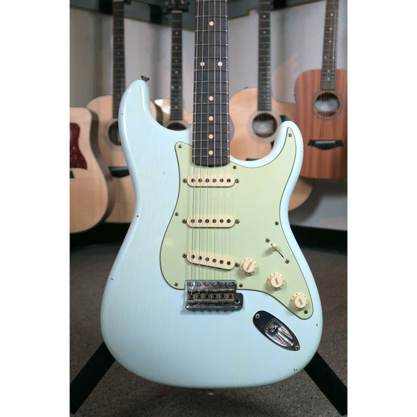 Fender Custom Shop Limited Edition 59 Special Stratocaster Journeyman Relic - Super Faded Sonic Blue #004 - Bananas at Large - 6