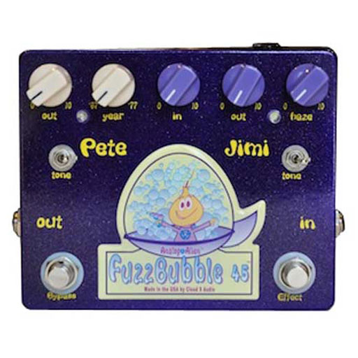 Analog Alien Fuzzbubble-45 Overdrive and Fuzz Pedal - Bananas At Large®