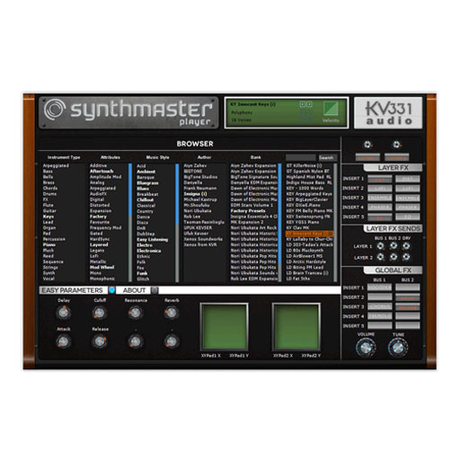 KV331 Audio SynthMaster Player Simplified version of SynthMaster [Download] - Bananas at Large