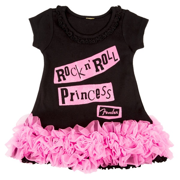 Fender Rock N Roll Princess Dress, Black, 6X - Bananas At Large®