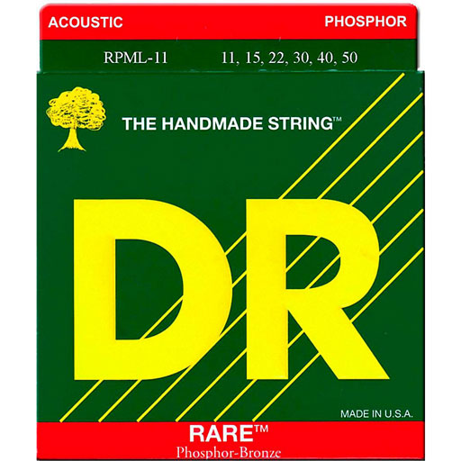 DR Strings RPML-11 Rare Phosphor Bronze Acoustic Guitar Strings Medium Lite - Bananas At Large®